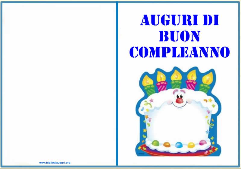 Biglietto Auguri Compleanno - Auguri compleanno da stampare