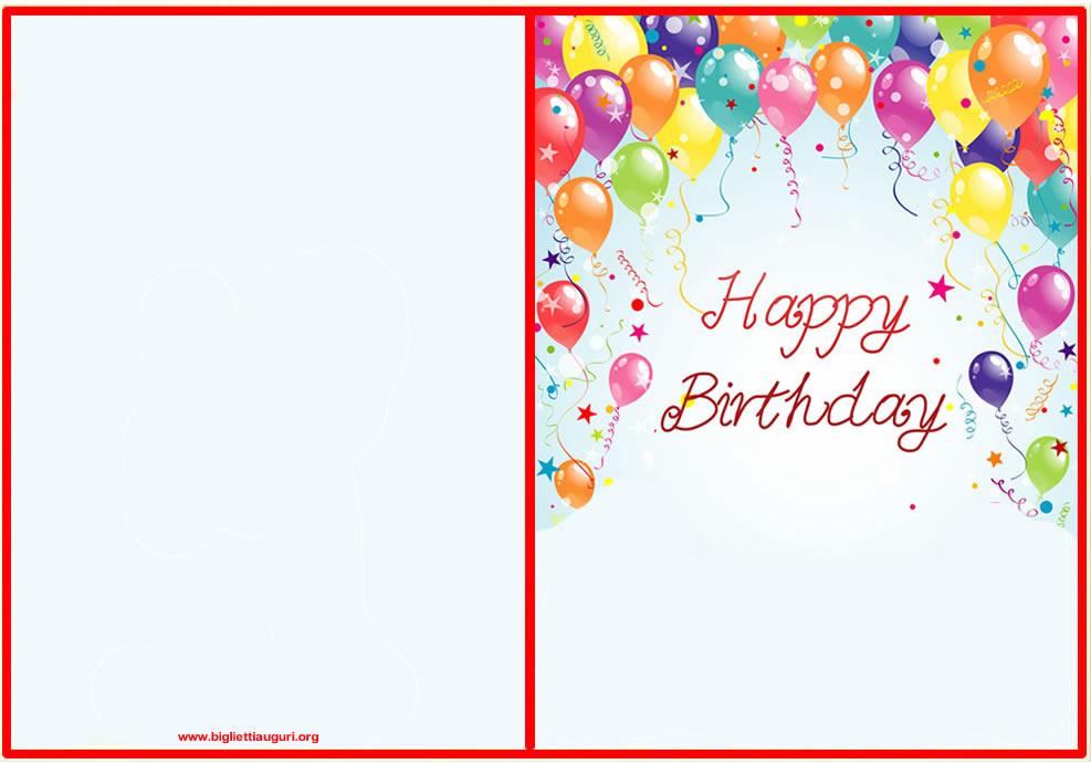 Molto Auguri Compleanno - Biglietto auguri compleanno stampare OK05