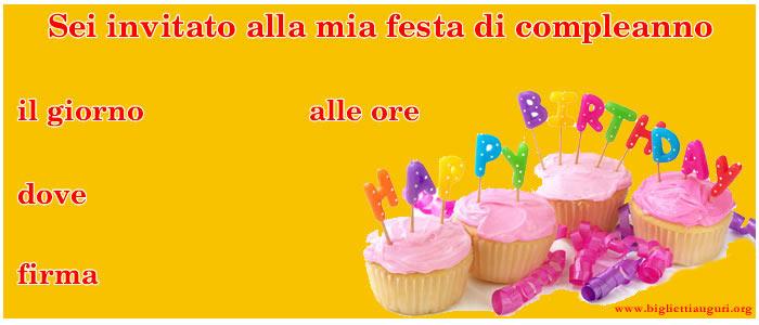 Biglietto Invito Compleanno - Biglietto Invito Compleanno Torte