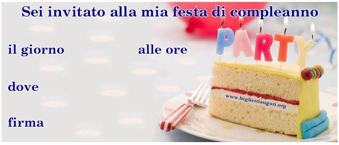 Biglietto Invito Compleanno - Biglietto Invito Compleanno Party