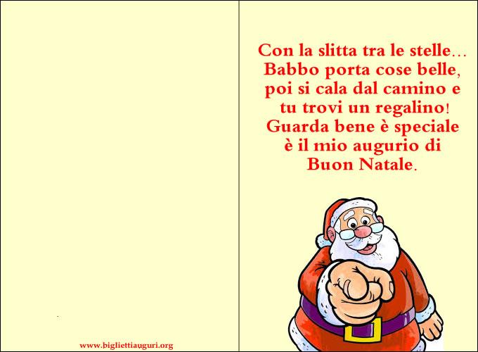 Biglietto Di Natale - Biglietto Babbo Natale