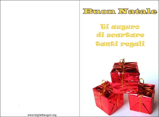 Biglietto Di Natale - Biglietto di Natale Regali