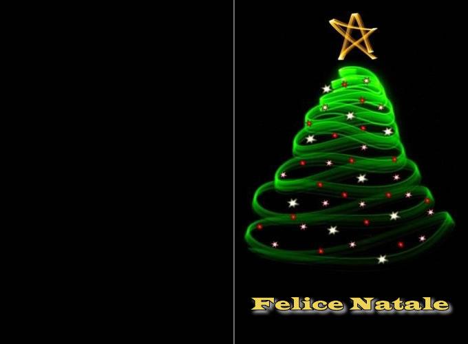 Biglietto Di Natale - Biglietto di Natale Albero