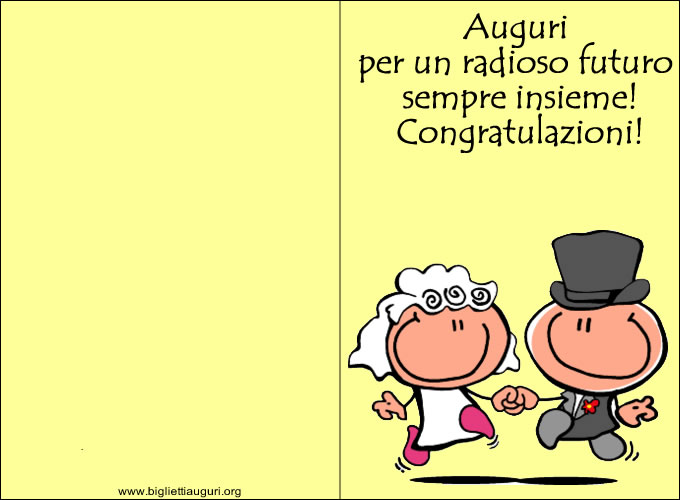 Vignette Per Auguri Matrimonio : Biglietto matrimonio auguri di